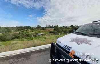 Joven ebrio sale ileso al volcar su vehículo sobre libramiento Tlaxcala - Quadratín Tlaxcala