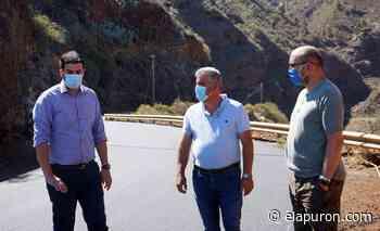 El Cabildo mejora la carretera entre Las Tricias y Santo Domingo de Garafía - elapuron.com