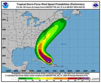 Hurricane Isaias Could Bring Heavy Rains To New Hampshire - Concord, NH Patch