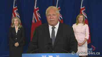 Coronavirus: Ford pledges ongoing support for Windsor-Essex region as they maintain in Stage 2 of reopening | Watch News Videos Online - Globalnews.ca