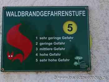 Erfurt/Sonneberg: Höchste Waldbrandstufe 5 in Südthüringer Forstämtern - inSüdthüringen