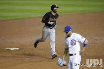 Pirates Colin Moran hits a solo home run at Wrigley Field in Chicago - UPI.com