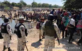 Guardia Nacional improvisa cuarteles para frenar migrantes - El Sol de Cuautla