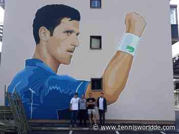 Weltnummer 1 Novak Djokovic bekommt sein eigenes Wandbild - Tennis World DE