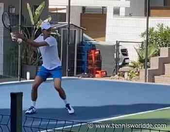 Novak Djokovic trainiert mit den US Open Bällen! - Tennis World DE