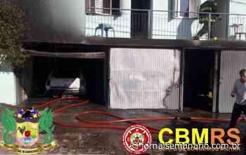 Incêndio destrói residência no bairro Santa Helena, em Bento Gonçalves - jornalsemanario.com.br