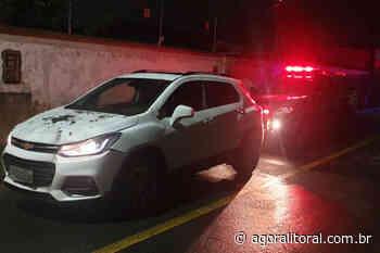 Carro levado em assalto é recuperado pela ROMU na Vila Santa Helena - Agora Litoral
