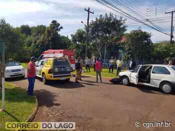 Colisão entre carro e moto deixa mulher ferida em Santa Helena - CGN