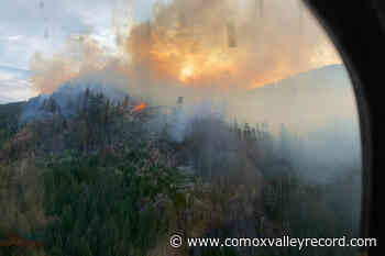 Crews challenged by mountaintop wildfire west of Nanaimo - Comox Valley Record
