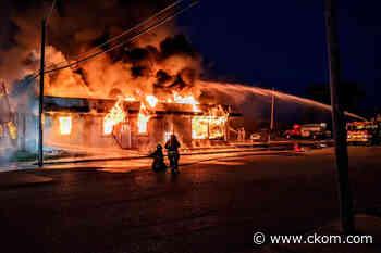 'It's a huge loss:' Davidson fire department battles marathon blaze at local auto shop - CKOM News Talk Sports