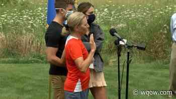Justice Karofsky sworn in mid-marathon during unconventional ceremony - WQOW TV News 18