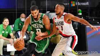 Jayson Tatum scores 34, Boston holds of Damian Lillard, Portland for win