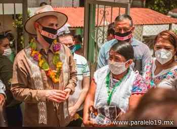 Bendicen a López Gatell en la Sierra Norte de Puebla Puebla Ago 1 , 2020 - Paralelo 19