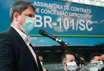 Em Jaguaruna, ministro da Infraestrutura assina contrato de concessão do trecho Sul da BR-101 - Jornal Folha do Litoral