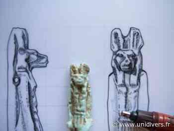 Atelier d'initiation au dessin d'objet archéologique égyptien Musée Médard Lunel - Unidivers