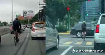 Automovilistas exhiben a ciclistas que circulan sin precaución; Se pasan semáforo en rojo - El Horizonte