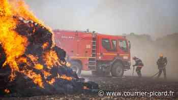 Un feu de champ sur 15 hectares à Guiscard - Courrier Picard