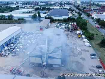 Feuerwehreinsatz: Millionenschaden nach Großbrand in Magdeburg - Volksstimme