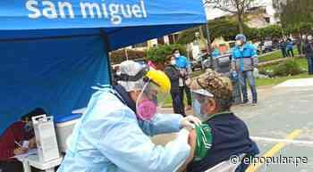 Realizan segunda campaña de vacunación contra la influenza y el neumococo a más de 230 adultos mayores en San Miguel [VIDEO] - ElPopular.pe
