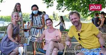 Biebricher freuen sich über neue Rhein-Bar
