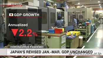 Japan's second revised Jan.-Mar. GDP unchanged - NHK WORLD