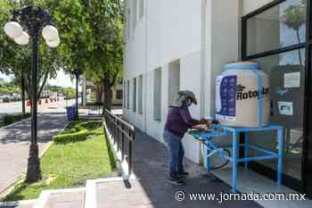 Instalan estaciones de lavado de manos por Covid-19 en Nuevo Laredo - La Jornada