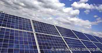 Die Kraft der Sonne nutzen - Teningen - Badische Zeitung