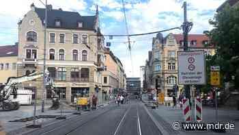 Bauarbeiten: Augustbrücke in Erfurt wird abgerissen - Sperrung der Bahnhofstraße - MDR
