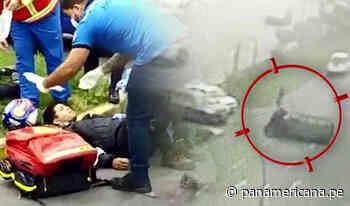 San Miguel: dos jóvenes resultan heridos tras chocar contra miniván | Panamericana TV - Panamericana Televisión