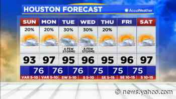 Chance of severe, scattered storms possible in north Houston - Yahoo News