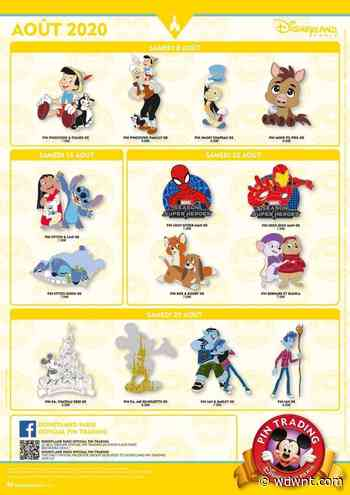 August 2020 Pin Trading Releases Revealed for Disneyland Paris - wdwnt.com
