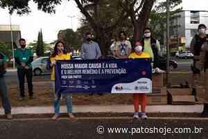 Ação de conscientização é realizada em Patos de Minas para tentar conter o avanço da Covid-19 - Patos Hoje - Notícias de Patos de Minas