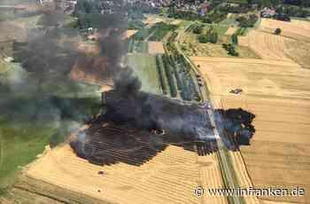 Ballenpresse setzt ganzes Feld in Brand: Großeinsatz im Landkreis Forchheim - inFranken.de