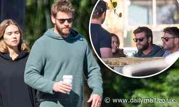 Liam Hemsworth with girlfriend Gabriella Brooks at Byron Bay bakery - Daily Mail