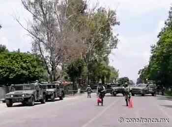 Despliega Ejército Mexicano operativo en carretera Celaya-Juventino Rosas - Zona Franca