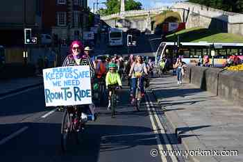 Updated with pictures: Cyclists hold a go-slow protest in York to highlight 'lacklustre' transport plans - YorkMix
