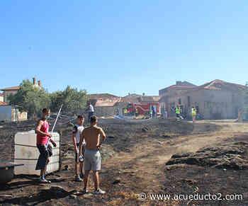 Incendio a las puertas de San Cristóbal de Segovia - Acueducto2.com