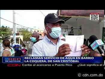 Reclaman servicio de agua en barrio La Coquera, San Cristóbal - CDN