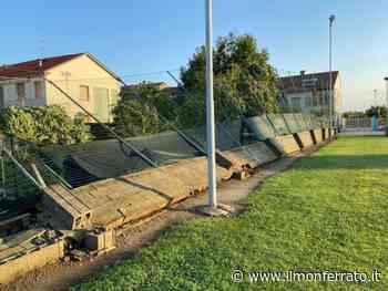 Maltempo: danni all'impianto sportivo dell'oratorio di Casale Popolo - Il Monferrato