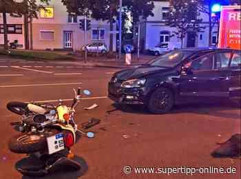 Kollision beim Abbiegen: Motorradfahrer schwer verletzt - Ratingen - Supertipp Online