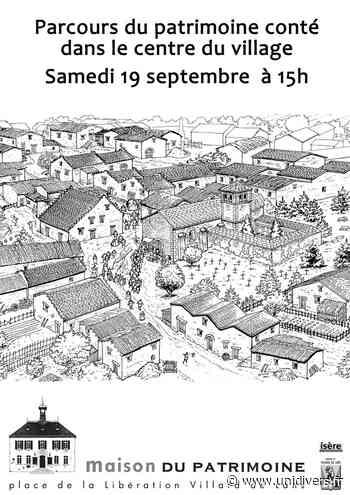 Parcours patrimoine conté Maison du patrimoine samedi 19 septembre 2020 - Unidivers