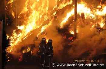 Tagelanges Feuer: Halle mit Stroh in Wehr abgebrannt - Aachener Zeitung