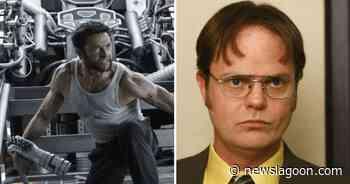 Hugh Jackman thinks 'The Office' star Dwight looks 'hot' as fanny pack-wearing Logan in Bosslogic's spoof art - News Lagoon