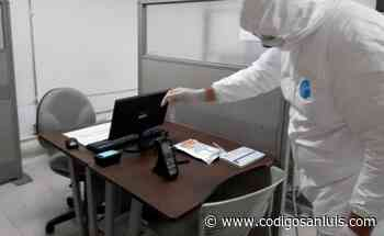 SUTSGE pone a disposición de trabajadores equipos de sanitización - Código San Luis