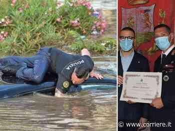 Alluvione Palermo, premiato a Bagheria il poliziotto eroe che ha salvato gli automobilisti intrappolati - Corriere della Sera