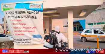 Tamaulipas Desinfectan en Tampico espacios pblicos estatales y municipales - Hoy Tamaulipas