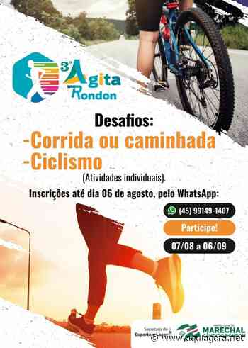 Marechal Rondon está com as inscrições abertas para o Desafio de Ciclismo e Corrida ou Caminhada - Aquiagora.net