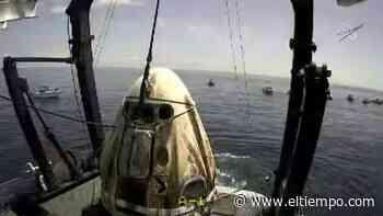La cápsula tripulada de SpaceX ameriza frente a la costa de Florida - El Tiempo