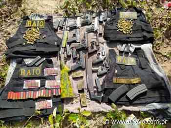 Raio apreende 11 armas de fogo escondidas em mochilas escolares em Aquiraz - O POVO