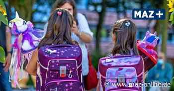 Grundschulen in Dahme-Spreewald und Teltow-Fläming feiern ihre Erstklässler in kleinem Rahmen - Märkische Allgemeine Zeitung